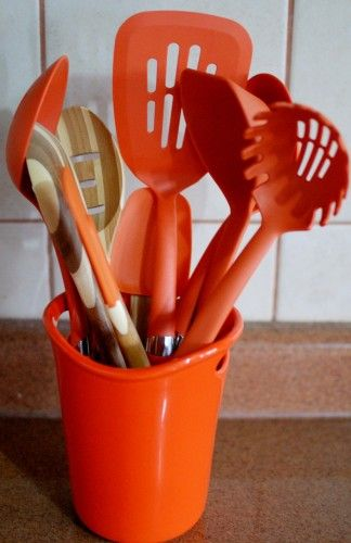 Rachael Ray Utensil Crock, Mine Is In Red And I Love It! Warm KitchenOrange  ...