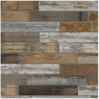 Marazzi Montagna Wood Vintage Chic 6 In X 24 Porcelain Floor And Wall Tile 14 53 Sq Ft Case Ulrw624hd1pr At The Home Depot