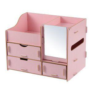 Photo of WINOMO 組み立て メイクボックス コスメボックス 木製 DIY 大容量 鏡付き 化粧品収納ボックス 収納引き出し 防塵 おしゃれ 小物 :20181231121810-00365:ケイハウス – 通販 – Yahoo!ショッピング