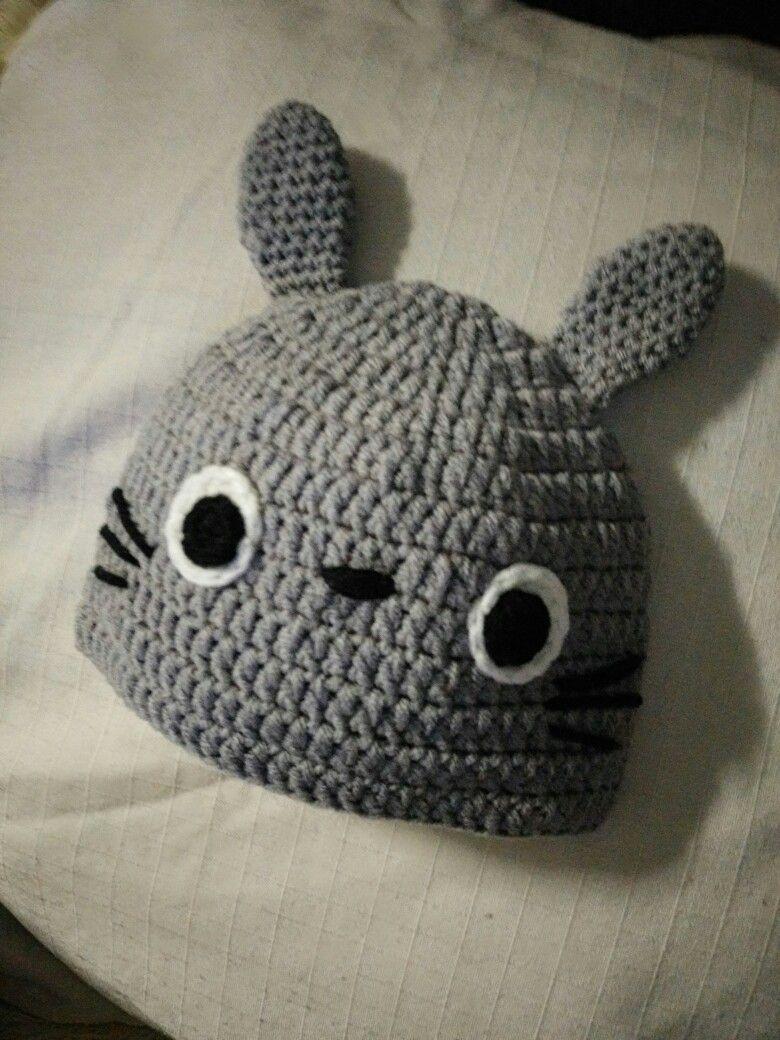 Totoro hat crochet pattern  a60edc2d852