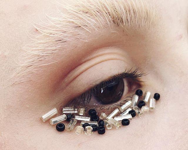 Revenge Of The 3 Year Old Makeup Artist Just some @katvondbeauty high voltage eye primer, translucent powder and beads #makeup #makeupartist #art #mua