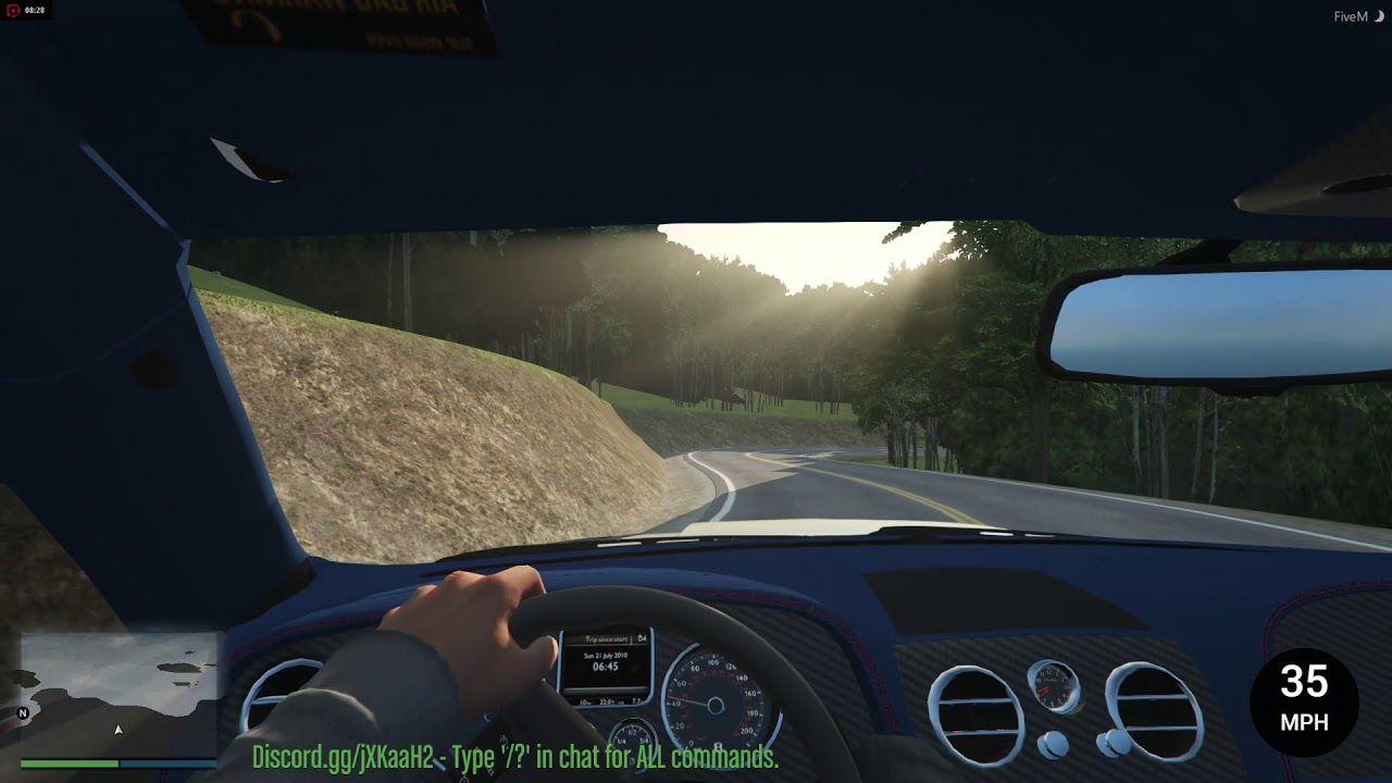GTA V - First Person Drifting a Bentley GT (Modded Drift Server