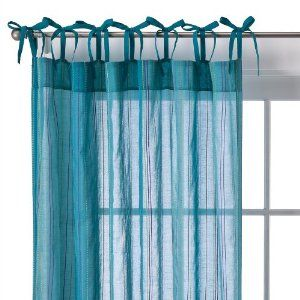 Sheer Teal Curtains With Bow Ties Teal Bedroom Ideas Pinterest Teal Cur