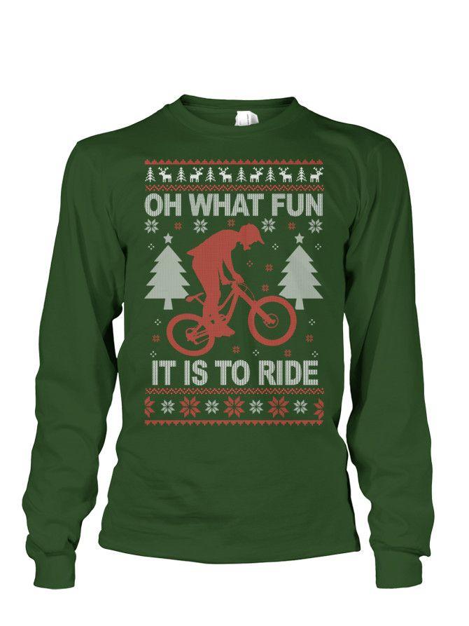 Mountain Bike Ugly Christmas Sweater   TeeChip   Bicycle ...