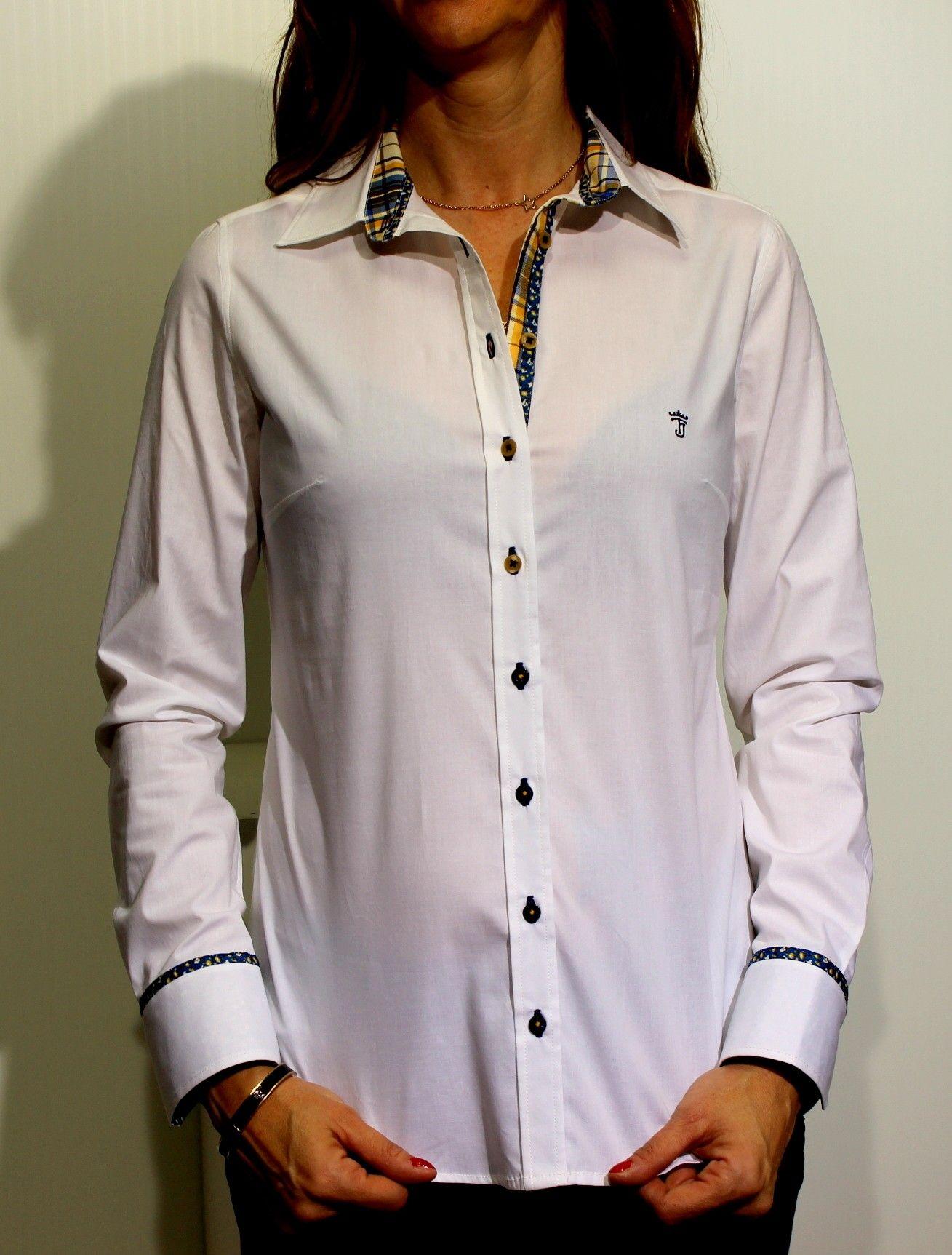Con Blanco Y En Hombre Color Online Camisa Moda Mujer Tienda OnxcPZHq4