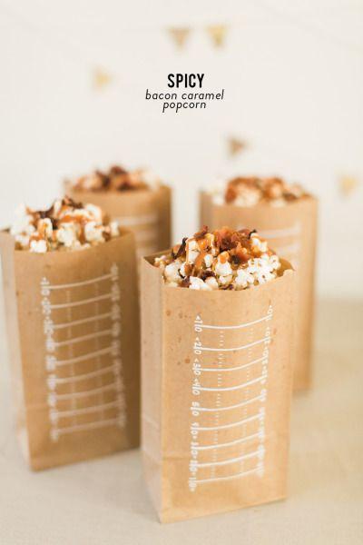 Spicy Bacon Caramel Popcorn: http://www.stylemepretty.com/living/2015/01/28/spicy-caramel-bacon-popcorn/ | Photography: Ruth Eileen - http://rutheileenphotography.com/