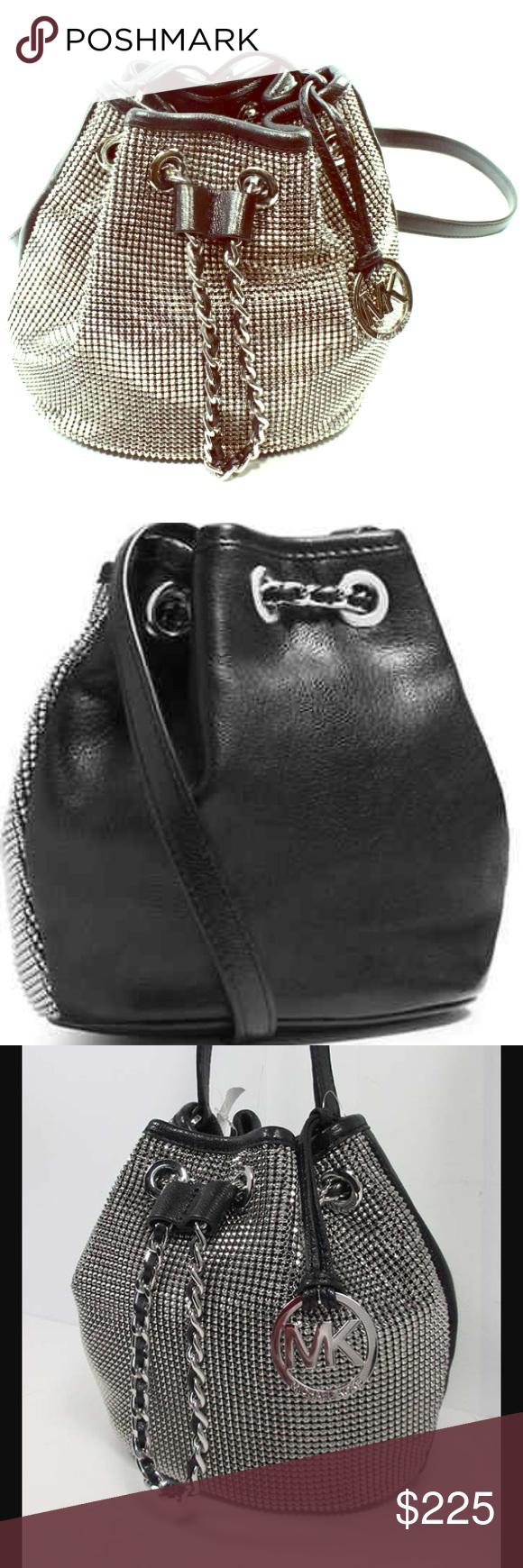 29d7519c Michael Kors Frankie Metal Mesh Bucket Bag