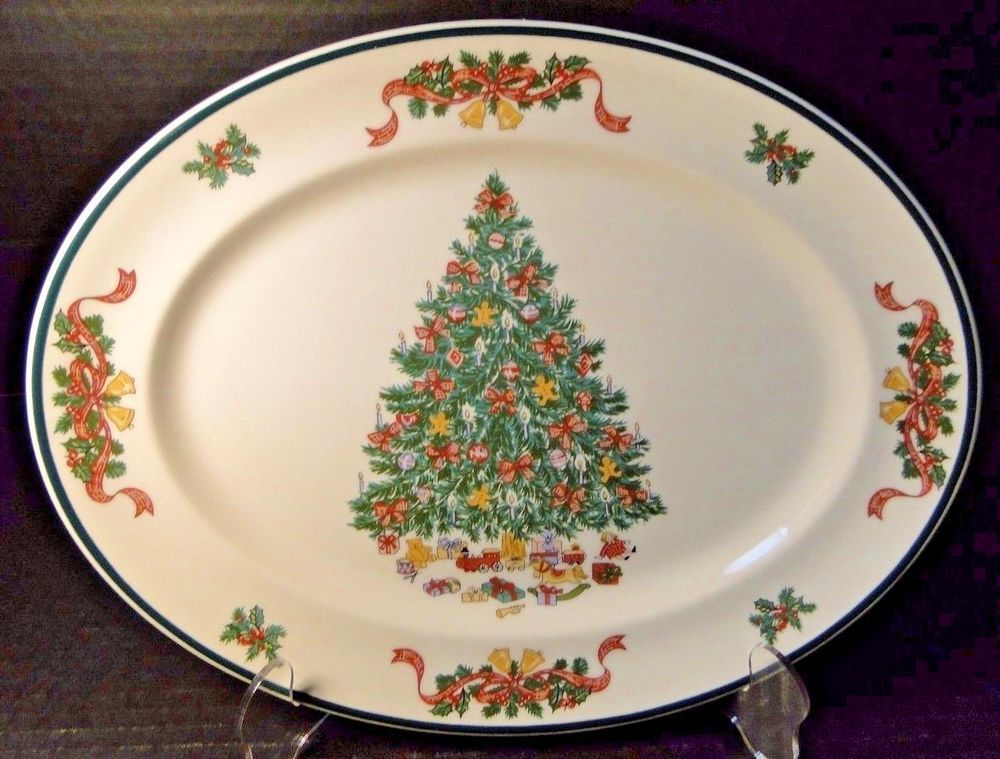 Johnson Brothers Victorian Christmas England Oval Serving Platter 12 ...