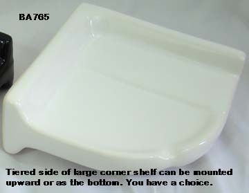 Large Ceramic Corner Shelf Used In Tile Showers With Images