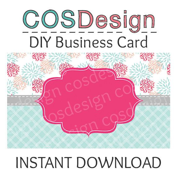 INSTANT DOWNLOAD - DIY Blank Business Card Template - Premade - blank business card template