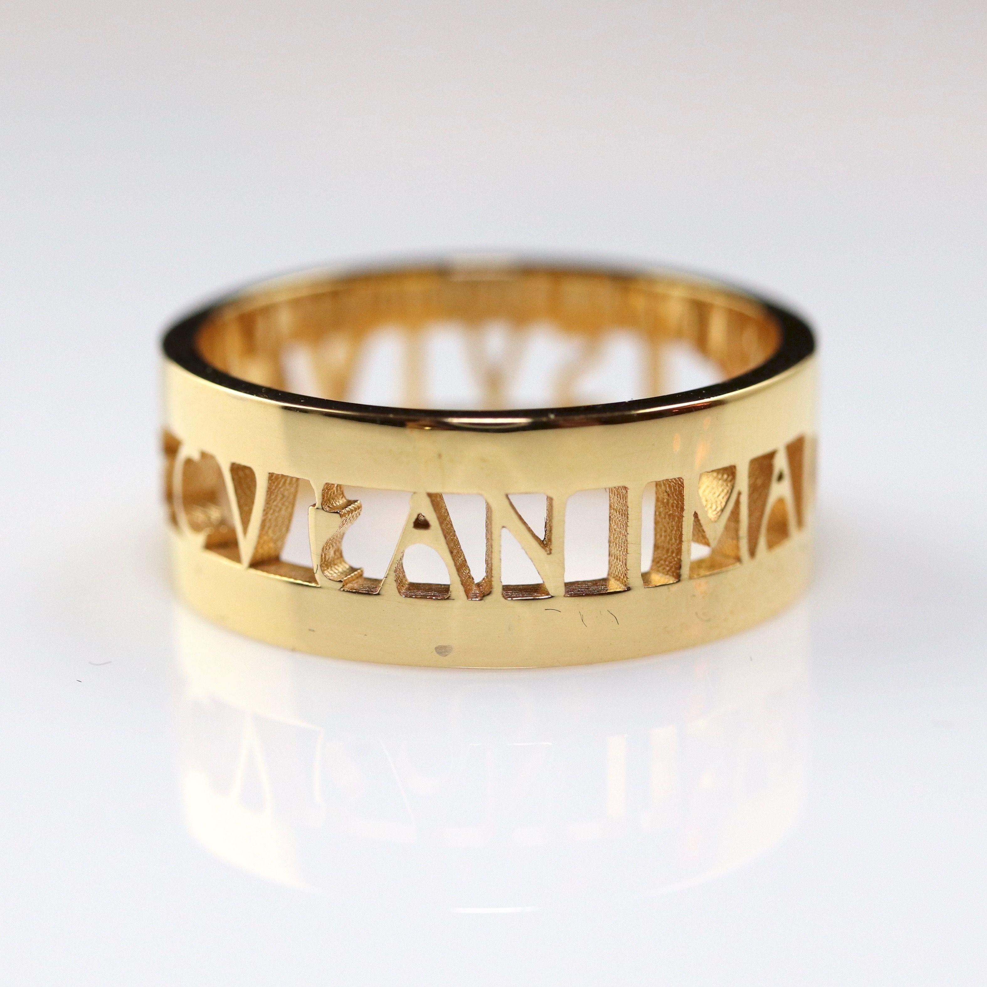 Anima Roman Ring Gold Gold Rings Jewelry Jewelry Design