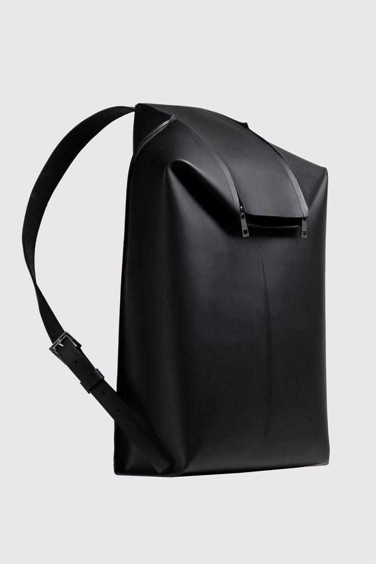 Black breakline bags by Agnes Kovacs and Eniko Deri. Minimalist women bag  4665a4ca706d7