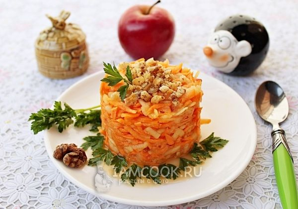 Салат «Витаминка» для детей — рецепт с фото | Рецепт | Еда ...