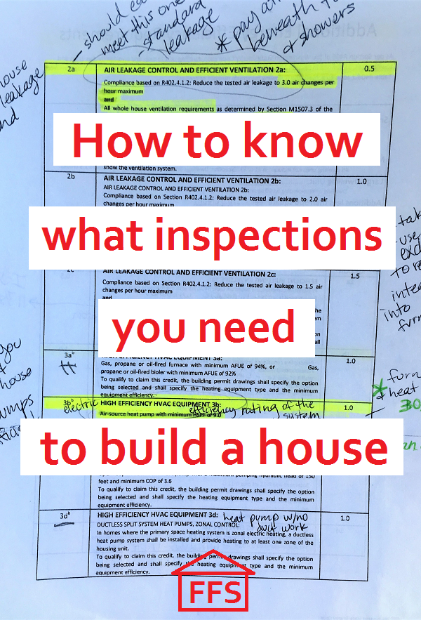 How to know what inspections you need to build a house. What inspections you  need