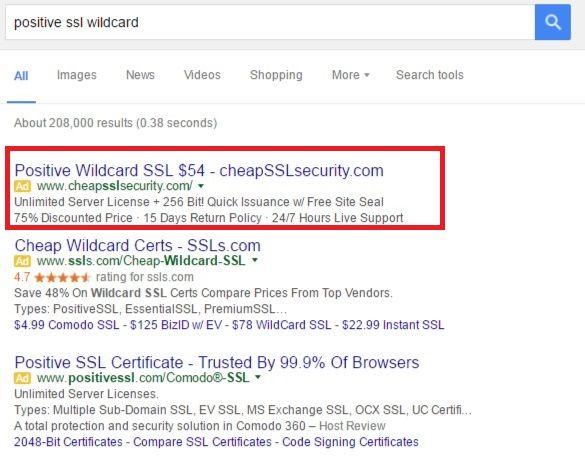 Comodo Positive SSL Wildcard As - CheapSSLSecurity | SSL Certificate ...
