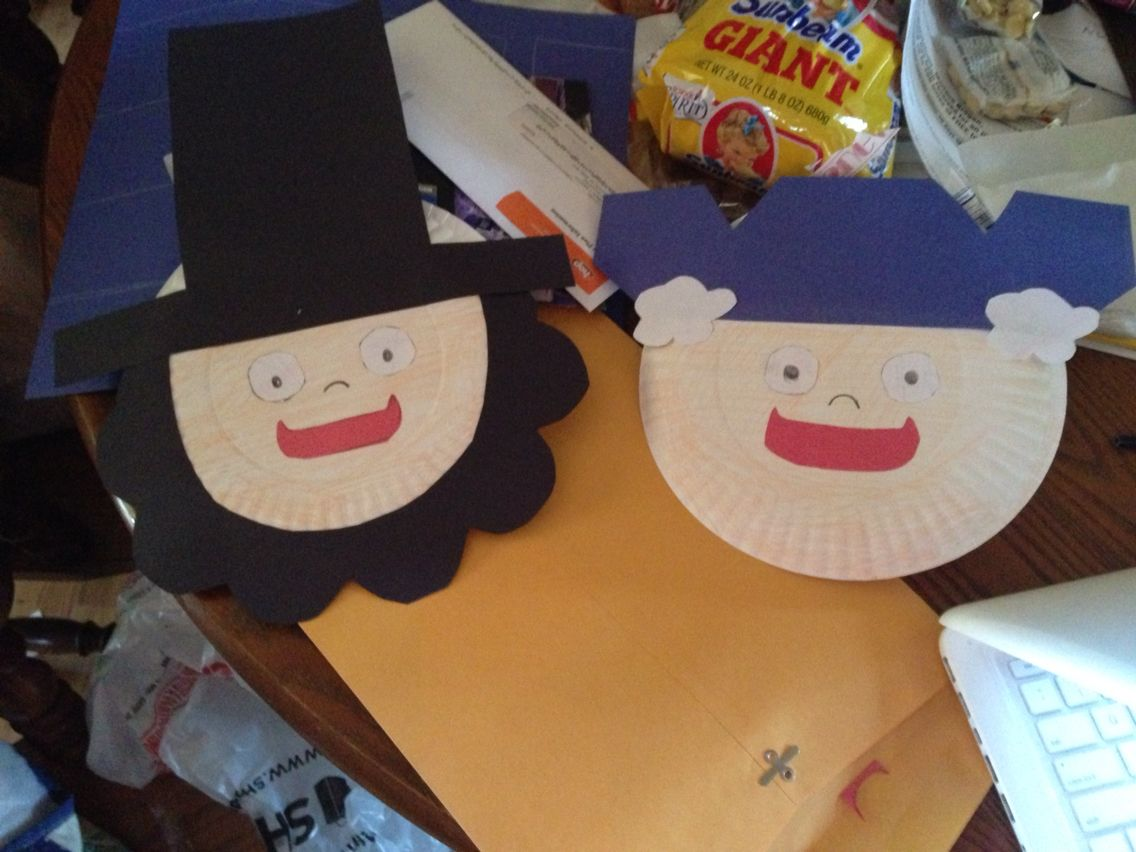cute george washington and abraham lincoln paper plate