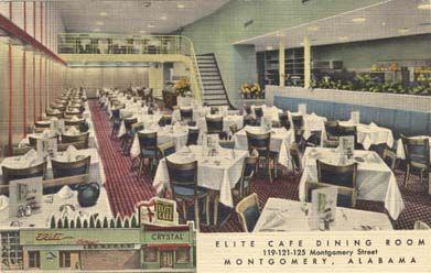 Elite Cafe Montgomery Long Gone Elite Dining Restaurant Vintage Cafe