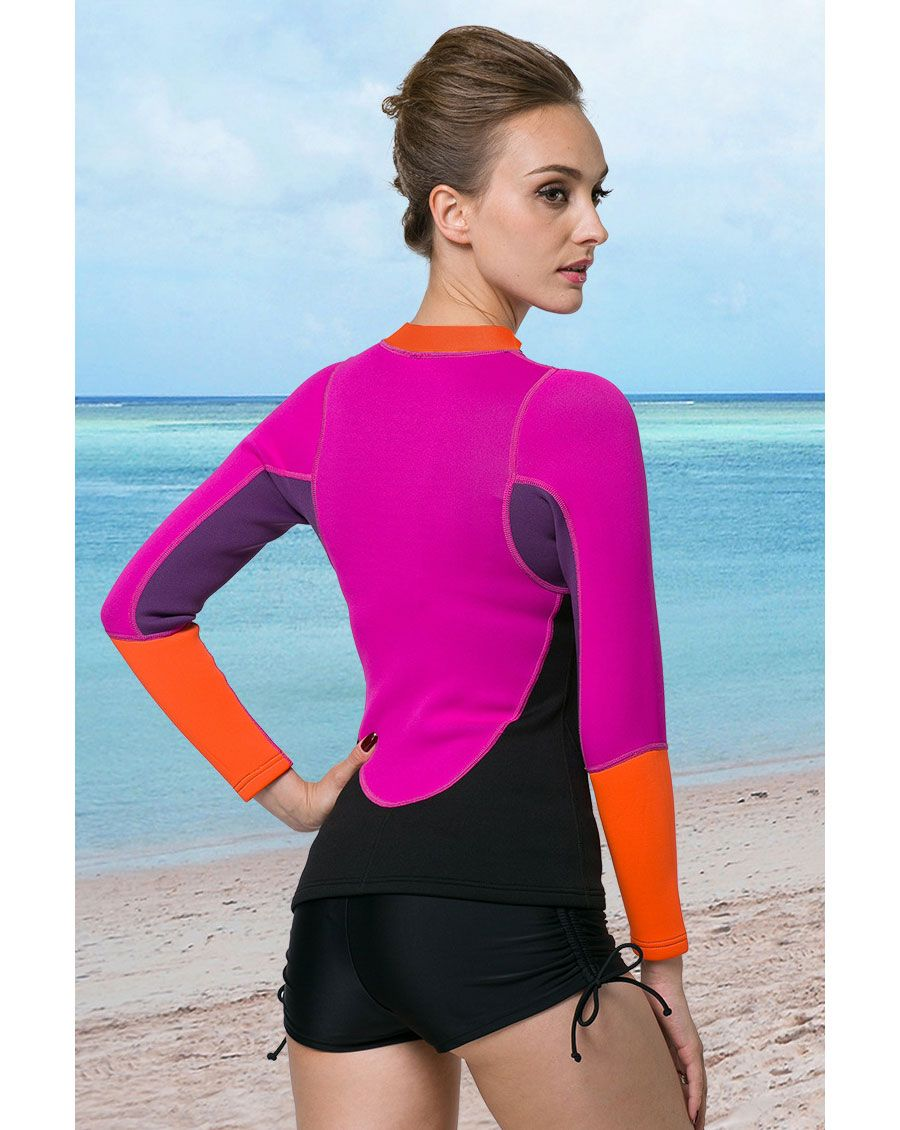 2016 Spring NEW Arrival 2mm Neoprene Wetsuit Jacket for Women Adut Wetsuits  SmoothSkin Front Zip Long 0b6b07cfe