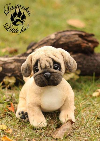 Pug Puppy Shakespeare By Evgeniya And Igor Krasnov Bear Pile