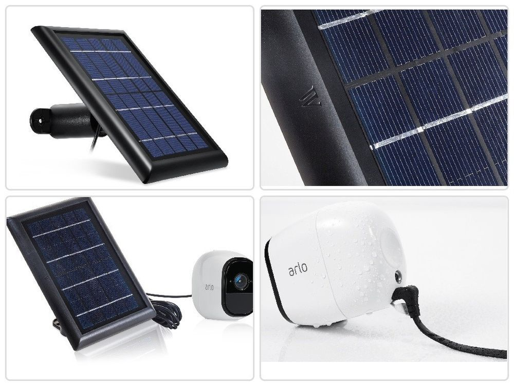 Solar Panel Compatible With Arlo Pro Arlo Pro 2 Outdoor Camera Charging Charger Outdoor Camera Arlo Camera Solar Panels