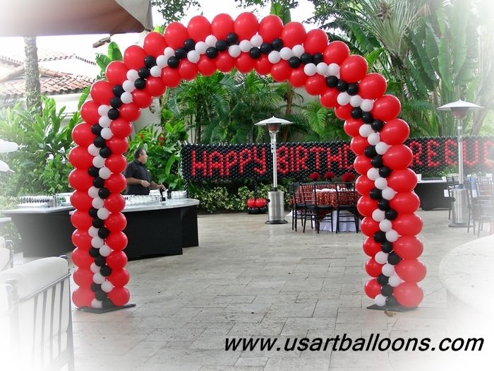 It is a great balloon arch design by sandra moreira cba for Arch balloons decoration