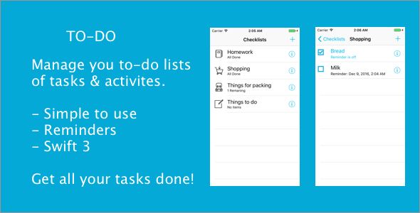 To-Do #App, #Checklist, #CubeDev, #Iphone, #List, #Lists, #Reminders, #Shopping, #Swift, #Task, #Tasks, #ToDo, #ToDo, #ToDoList https://goo.gl/RIsMlw