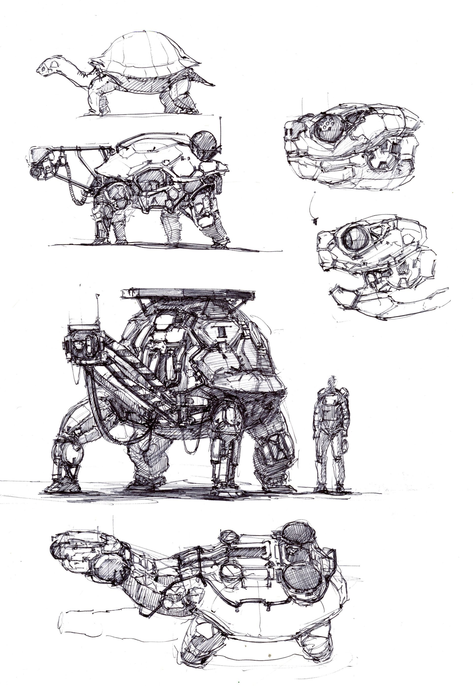 Artstation Animal Robotic Machine Longque Chen Mécha