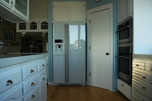 Jenn Air Floating Glass Refrigerator Cool Kitchen