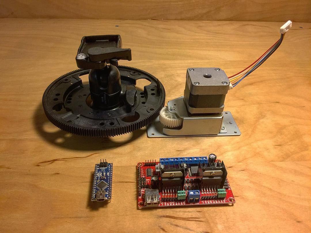 Ring gear from laser printer drum stepper motor with gear for Stepper motor camera slider