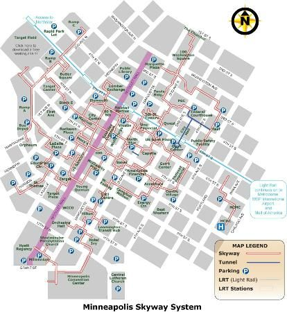 It is a photo of Minneapolis Skyway Map Printable throughout united states
