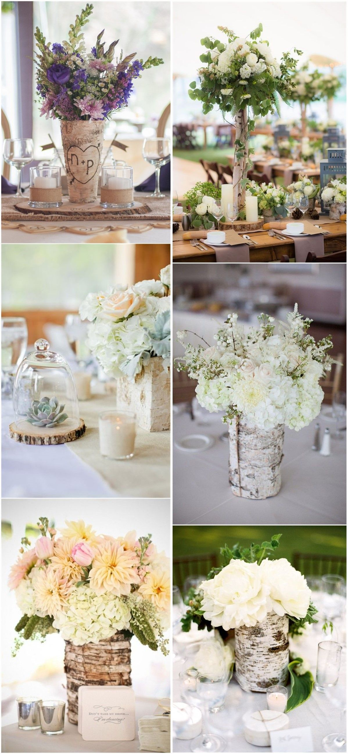 Wedding centerpieces 26 ideas to rock your winter wedding with 26 ideas to rock your winter wedding with birch centerpieces junglespirit Image collections