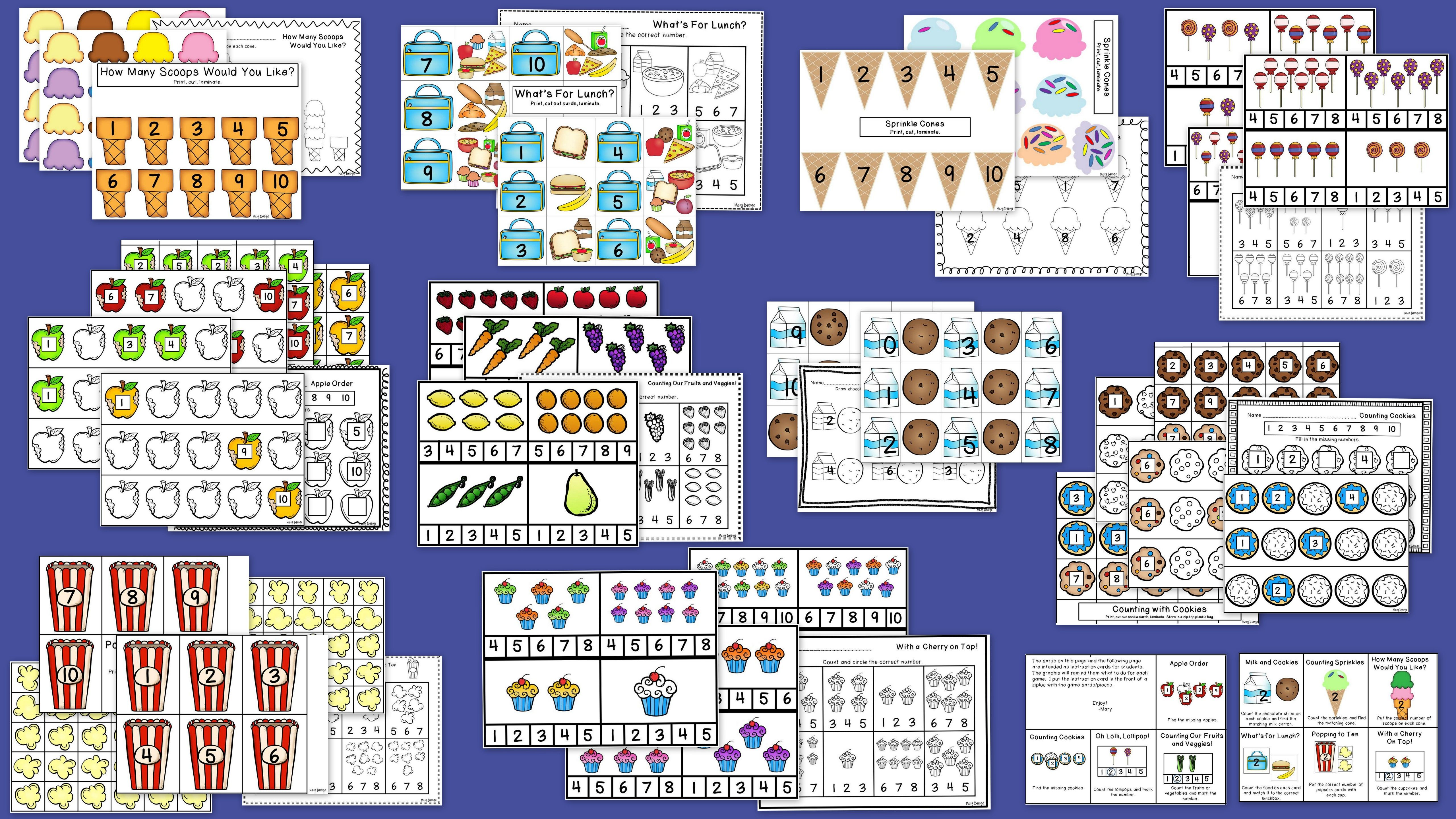 10 Math Learning Center Activities With Coordinating