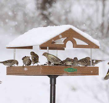 Platform Bird Feeder Wood Bird Feeder Large Bird Feeders Wooden Bird Feeders