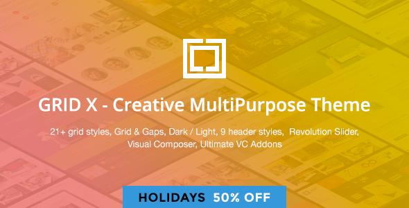 GRID X - Creative MultiPurpose Theme - https://themekeeper.com/item ...