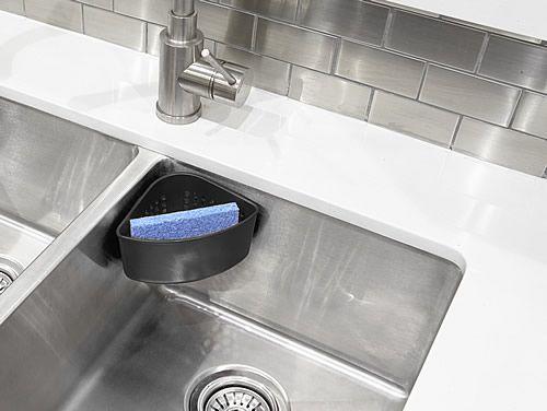 Corner Sponge Holder In Sink Dish Racks Washing Up Bowls Undersink Storage Sponge Holder Sink Washing Up Bowls