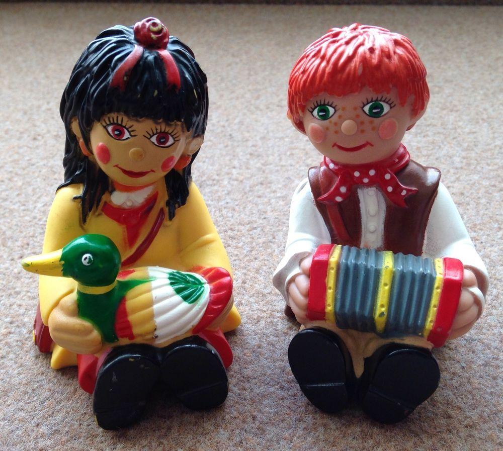 Vintage 1990s Rosie And Jim Plastic Doll Figurines