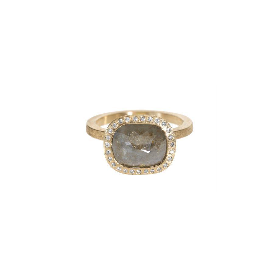 TRDR481-RG-SQ40 – Engagement – 18k rose gold, white/red fancy cut diamond(6.38ctw), white brilliant cut diamonds(0.134ctw)