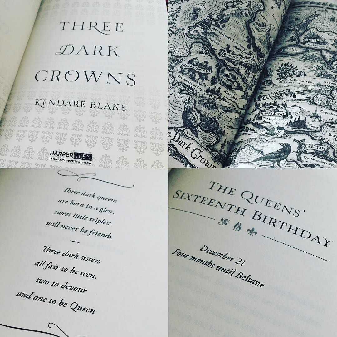 Three Dark Crowns by kendareblake epicreads had a MAP At least