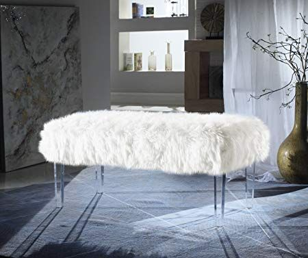 Outstanding 112 10 44 Off Iconic Home Modern Contemporary Faux Fur Andrewgaddart Wooden Chair Designs For Living Room Andrewgaddartcom
