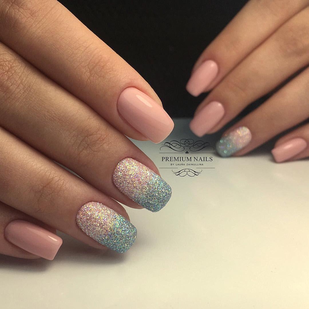 Двухцветные ногти, Дизайн ногтей омбре, Идеи двухцветного ...