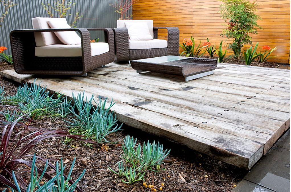 Love this sleeper deck | Backyard landscaping designs ...