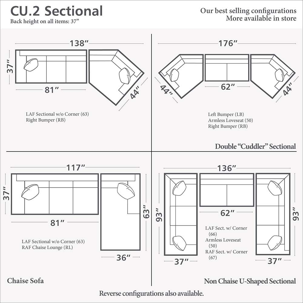 CU.2 Cuddler L-Shaped Sectional  sc 1 st  Pinterest : sectional dimensions - Sectionals, Sofas & Couches