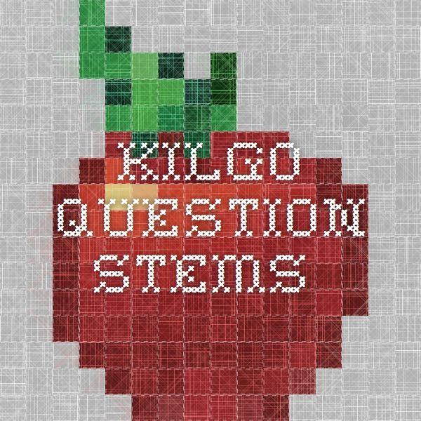 Kilgo Question Stems School Questioning Math Game