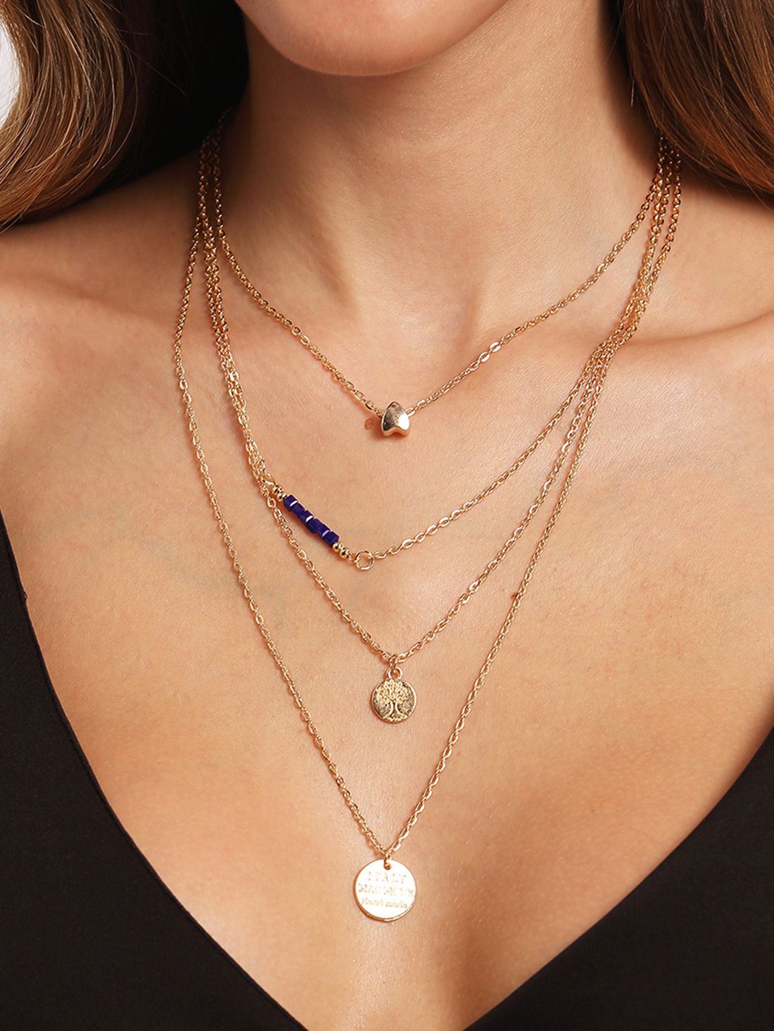 New Boho Jewelry Multi Layer moon Choker Necklaces for