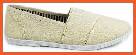 MURPHY Canvas Round Toe Athletic Casual Layered Flexible Flats