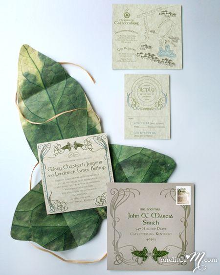 Our Little Budget Splurge Wedding Invitations Lotr