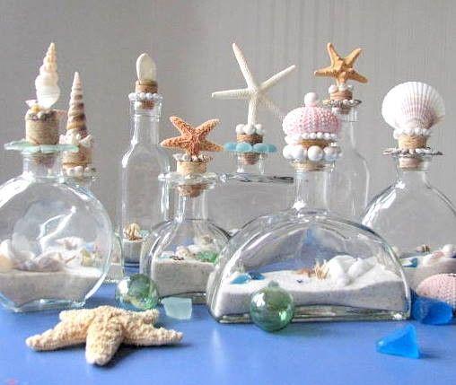 shell bottles emboltura de regalod pinterest muschel maritim und maritime deko. Black Bedroom Furniture Sets. Home Design Ideas