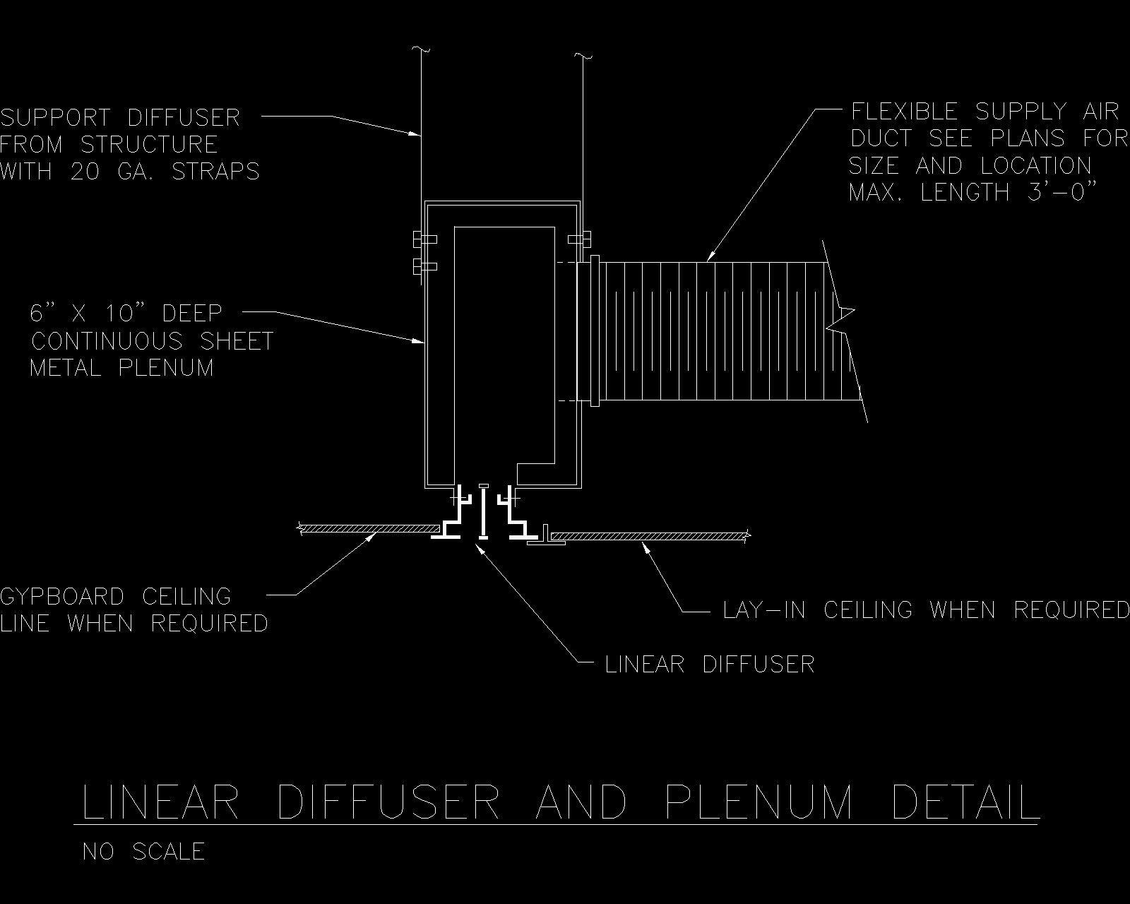 Drywall Slot Diffuser : Slot diff full g linear diffusers