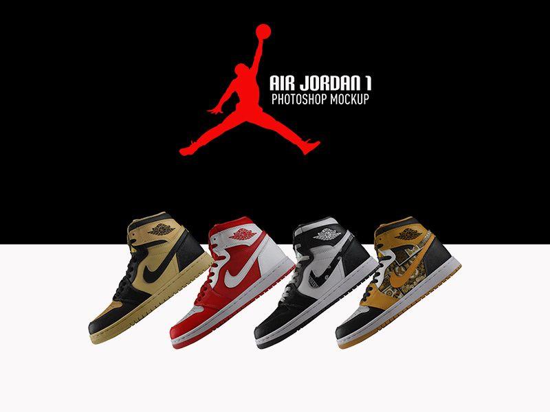 Free Air Jordan Sneaker Mockup Air Jordans Jordans Air Jordan Sneaker