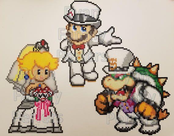Super Mario Odyssey Perlers Free Us Shipping Perler